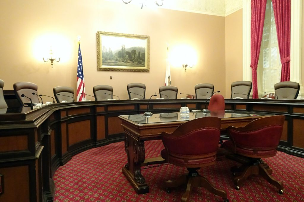 this image shows one of the senate rooms